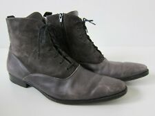Mezlan Grey Leather Zip Oxford Chukka Ankle Boot Men Size 10