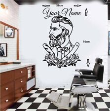 Barber Shop Tattoo Hipster Personalised Wall Art Sticker/Window Decal1