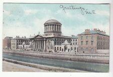 [50642] 1907 POSTCARD THE FOUR COURTS IN DUBLIN, IRELAND