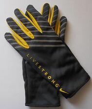 NIKE Women's LIVESTRONG Lightweight Tech Running Gloves Large Grey/Yellow New