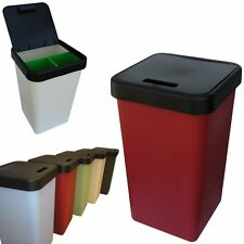 Brustibin, 3 in 1 Waste Sorting and Recycling Kitchen Bin, 70 Litres