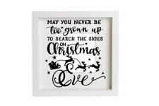 Search The Skies On Christmas Eve Decal Vinyl Sticker Box Frames Decorations