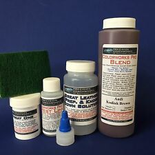 Colorworks Pro Leather/Vinyl Repair Kit for auto interiors - Audi Kodiak Brown