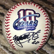 1994-2003 10 Years West Michigan Whitecaps Autographed Signed Logo Foto Baseball