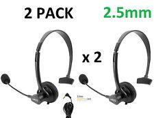 2x 2.5mm Mono Headset with Boom Mic for Office Panasonic Polycom Grandstream