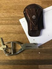 Vintage SafetySpeed Holster & V B Ticket PUNCH Puncher Mickey Mouse Shape Punch