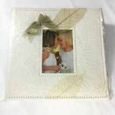Handmade Natural Paper Keepsake Box Photo Album - NIB - Bows Leaves