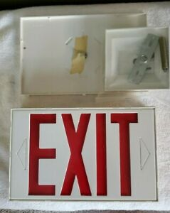 High Lites PAPS-R Exit Sign 120 Volt Double Faced - Red Letters- NEW