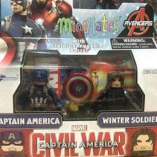 Capitán América Soldado de Invierno Final Batalla 2-pack Marvel Minimates 55 MIB