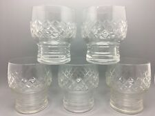 Set of 5 Handsome Heavyweight Baril Shaped vintage Tumblers with jupon Base