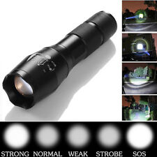 10000LM Zoomable XML T6 LED 18650 Flashlight Focus Torch Outdoor Lamp Light