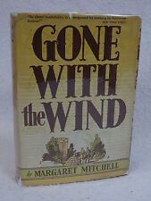 Margaret Mitchell  GONE WITH THE WIND  1936 HC/DJ Second Printing Macmillan, NY