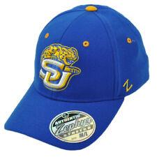 NCAA Zephyr Southern Jaguars Flex Fit Medium Large Blue Hat Cap Curved Bill