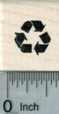 Tiny Recycling Rubber Stamp, Recycle Symbol A32307 WM