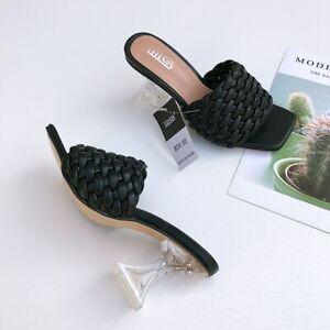 Top Women's Fashion Sandals 2021 Summer Hand High Heel Slippers Slippers hot