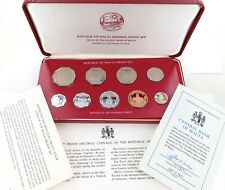 .VERY NICE 1977 MALTA 9 COIN PROOF SET + OUTER + PAPERS