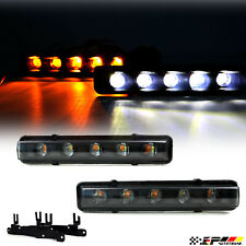 Fits W463 Euro White /Amber Sequential Signal LED Day Running Light Inner Black