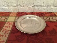 Made in Italy Vintage Silver Plate Dish 6""