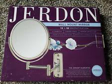 "Jerdon wall mount mirror 8"" diameter chrome finish 1X & 5X Niob"