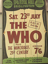 Vintage The Who/Mandrakes Concert Poster Wooden Sign