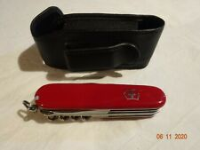 Victorinox Swiss Army Knife Huntsman Red with Leather Pouch - Mint - Reduced!