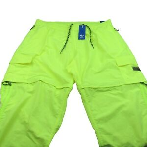Adidas Utility 2-in-1 Cargo Pants Mens Size 2XL Solar Yellow Taper NEW GN3302