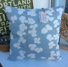 CUSHION COVER JOHN LEWIS WALLFLOWER DUCK EGG FLORAL FABRIC SHABBY CHIC sea gz/