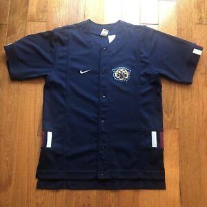 Nike Baseball Jersey Villanova Wildcats Blue Large Embroidered
