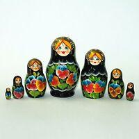 Nesting Dolls Russian Wooden Art 7 Piece 303 Matryoshka Handmade