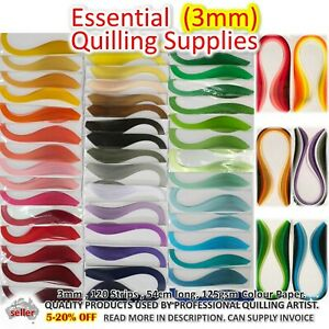 3mm 54cm PAPER QUILLING STRIPS Lucky Star Paper Craft DIY Gift Quiling Craft
