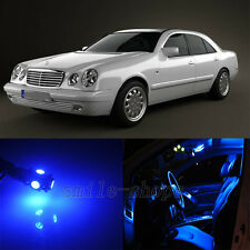 22pcs Blue Interior LED Light Kit for Mercedes Benz E Class W210 Sedan 95-01