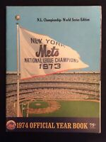 NY Mets Official 1974 Yearbook -- NL Championship World Series Edition  M1500