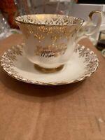 Royal Albert Bone China Happy Birthday tea cup and saucer #17