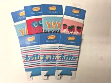 Lot of 7 summer themed can coolers Koozie party favor summer Bbq pool party