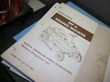 "Massey-Ferguson Mf6 mower. ""Parts Book""1st.print used"