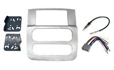 Silver Double Din Radio Stereo Install Bezel Panel Mount dash kit fits DODGE RAM