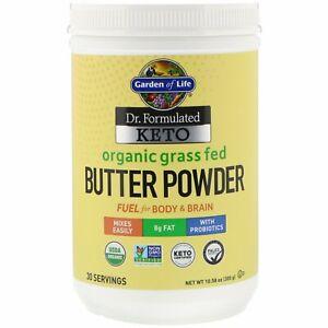 Grass Fed Butter Powder Garden of Life KETO Organic Best By 02/16/21