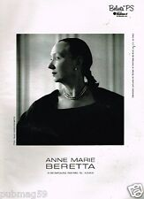 Publicité advertising 1991 Haute couture Anne Marie Beretta