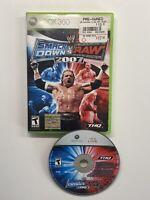 WWE SmackDown vs. Raw 2007 (Microsoft Xbox 360, 2006) No Manual