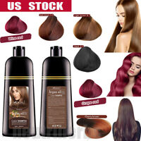 Mokeru Natural 7 Colors Permanent Hair Color Shampoo Long Lasting Hair Dye USA