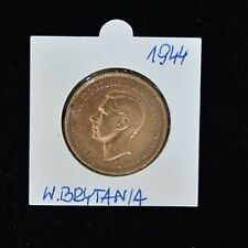 1944 Georgivs VI One Penny - Copper - Very Fine Condition