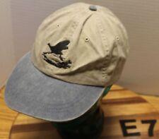 GALLATIN SPORTING CLAYS MONTANA HAT SHOOTING TRAP SKEET BEIGE/BLUE GUC E7