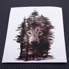 Forest Wolf Temporary Tattoo Stickers Waterproof Animals Body Arm Feather Decal