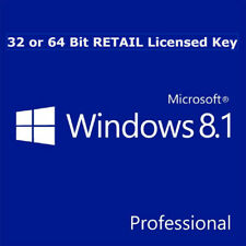 Microsoft Windows 8.1 Pro Professional 32 or 64 Bit RETAIL Genuine License Key