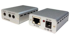 Premium IR Remote Over Cat5 Cat6 Extender + IR Remote Repeater
