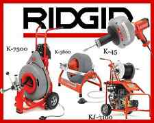 Ridgid K-7500 60052 K-3800 53117 K-45-1 36013 KJ-3100 Jetter 37413