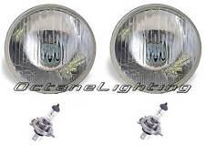 "7"" Halogen 6V Glass Semi Sealed Beam Headlight Headlamp Bulbs H4 6 Volt Pair New"