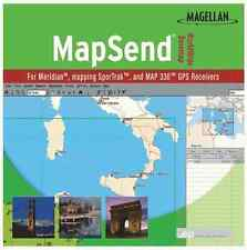 Magellan Mapsend Worldwide Basemap Mapping Software For Meridian Marine Gps -Oem