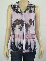 T by Bettina Liano Ladies Fashion Sleeveless Top sizes 8 10 Colour Sunset Print