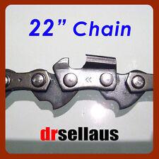 "5 x NEW 22"" CHAINSAW CHAIN 3/8 PINCH 050 GAUGE 77 LINKS SAW CHAIN"